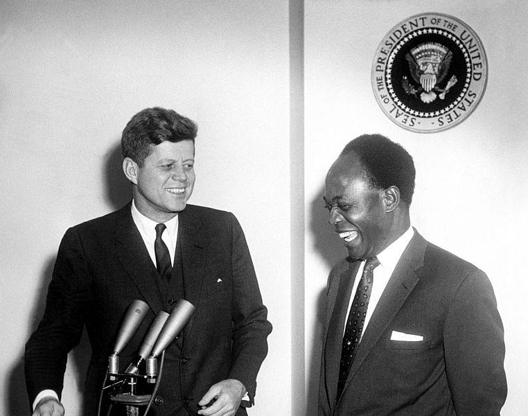 President John F. Kennedy and President Kwame Nkrumah