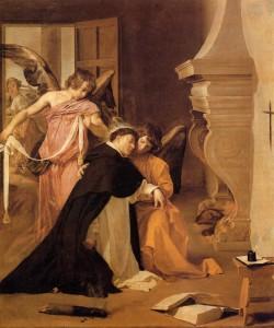 The Temptation of St. Thomas Aquinas, Diego Velazquez, (1631-32).