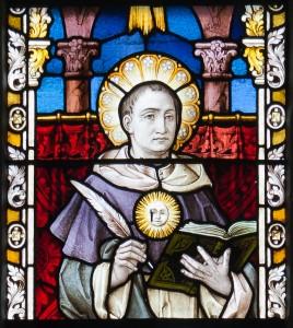 Clonmel_SS._Peter_and_Paul's_Church_West_Aisle_Window_11_Saint_Thomas_Aquinas_Detail_2012_09_07