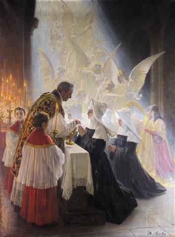 Holy Communion by Angelo Graf von Courten