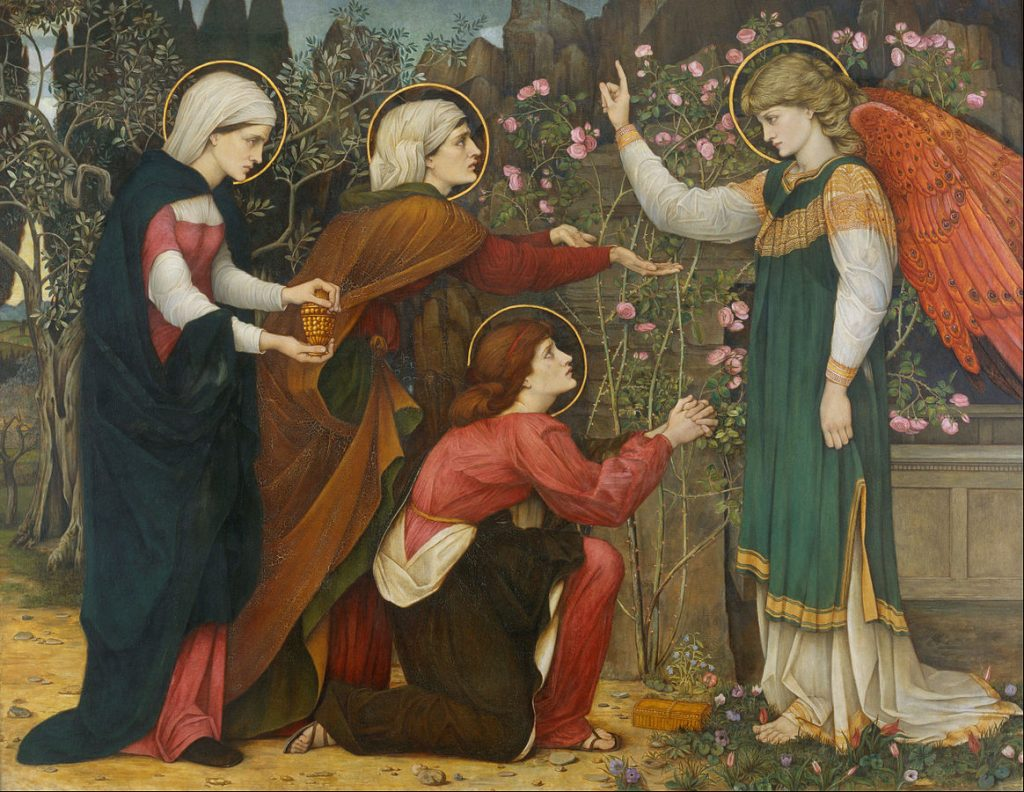 """Why seek ye the living among the dead?"" St Luke 24 v5 Painting by John Roddam Spencer Stanhope (1829-1908)"