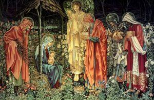 The Adoration of the Magi Morris & Co. tapestry design by Edward Burne-Jones