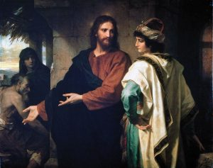 Christ and the Rich Young Ruler, Heinrich Hofmann (1889)