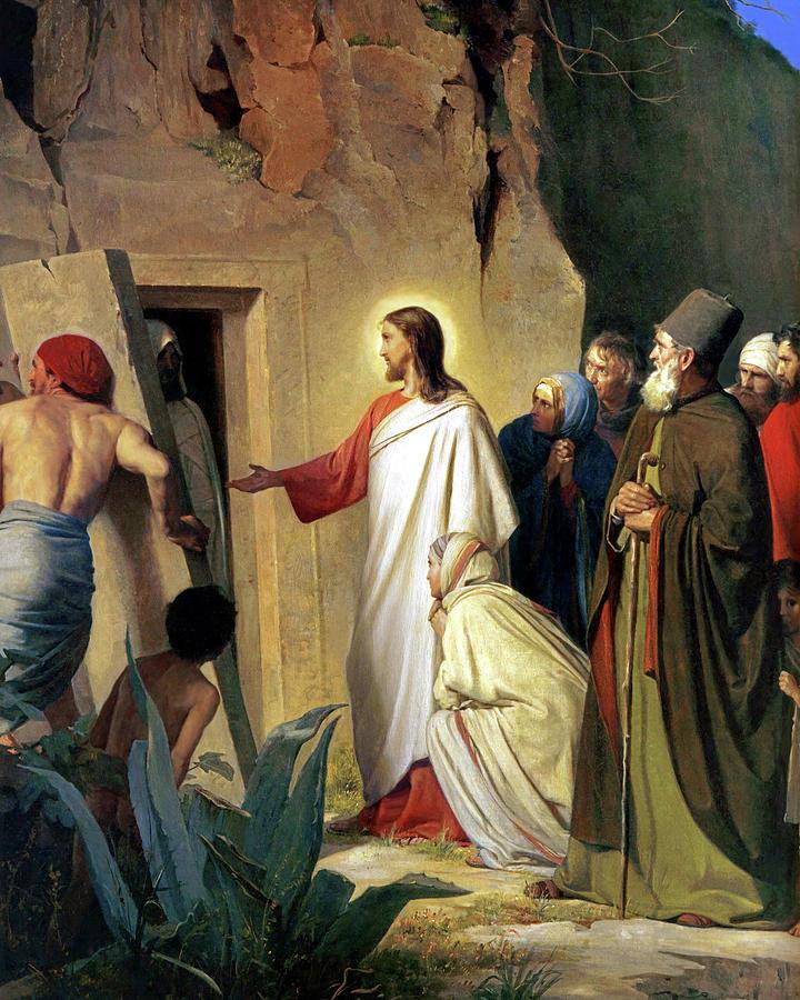 The Raising of Lazarus, Carl Bloch (1870)